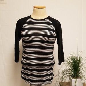 Unisex Lularoe Black & White Stripe Top M